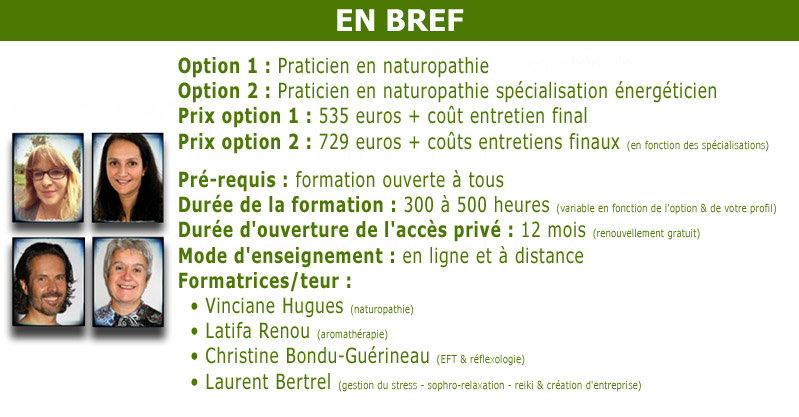 Formation naturopathie à distance